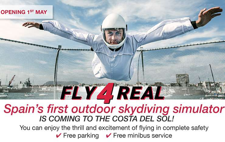 Win one of the first ten flights on Spain's first outdoor simulator